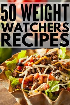 Simple Weight Watchers meals with points to make your weight loss plans easy & delicious! We've rounded up 50 fabulous meals for breakfast, lunch, dinner & dessert, with a few appetizers for good measure! Each recipe includes the total points (or SmartPoi