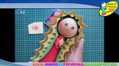 Como hacer Fofucha Virgen Guadalupe