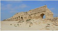 Herod's palace at Caesarea where Paul was kept under guard (Acts 23:33-35).