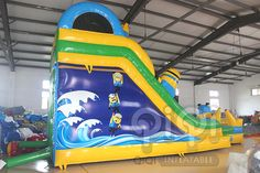 https://flic.kr/p/v8gBZs | Get ready for our Great design minion water slide with pool! Yes, for sure, it is new design with splash pool in the front.Minion Despicable Me themed inflatables is always popular and is great for all ages. Features safety netting over climbing area and at the top.Our inflatable minion Despicable Me series slide looks like the real thing and its a ton of fun!  More Info:http://www.qiqi-toys.com/Slide/Minion-Inflatable-Slide-With-Pool-1223.html