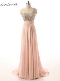 2017 Elegant Prom Dresses One Shoulder Sleeveless Floor Length Beaded Formal Evening Party Gowns Vestido De Festa Longo