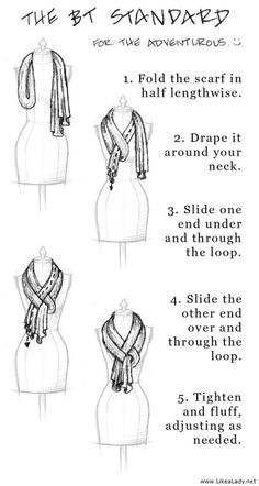 Scarf tying....for when I get rid of my double chin!!!