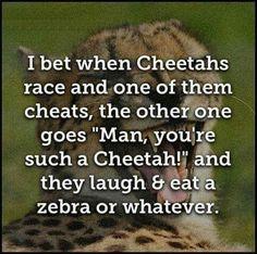 You're such a cheetah LOL