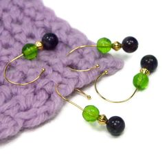 Removable Stitch Markers Set DIY Crochet Snag Free by TJBdesigns, $6.00