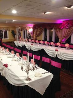 Black & Pink themed Quinceanera