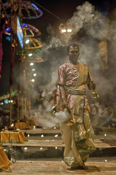 Night Aarti, Ganges, Varanasi, India