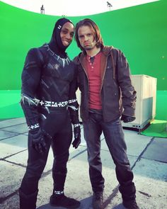 <><> Sebastian with Chad's stunt double.