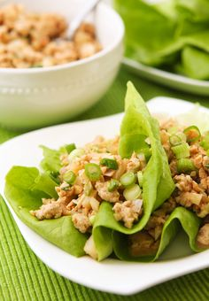 Slim and delicious chicken lettuce wraps