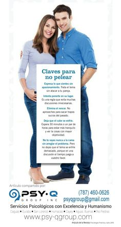 5 Claves para NO Pelear con tu Pareja ● Psy-Q Group, Inc.● Servicios Psicológicos ● (787) 460-0626 ● www.psy-qgroup.com