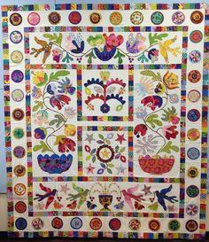 Glorious Applique: FLOWER POTS quilt