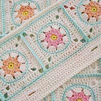 Crochet Pattern Flower Square VII (Etsy)