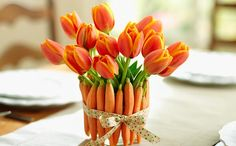 DIY+Bloomin'+Carrot+Bouquet:+Make+a+Fun+Floral+Vase+from+Raw+Carrots