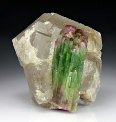 Elbaite with Quartz from Afghanistan
