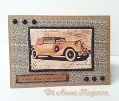 Handmade birthday card male vintage car greeting card for him men greeting card for him birthday handmade masculine mens male vintage vehicle bookmarktalkfo Image collections