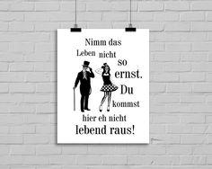 """""""Nimm das Leben nicht so ernst"""" Kunstdruck  von MilaLu auf DaWanda.com"""