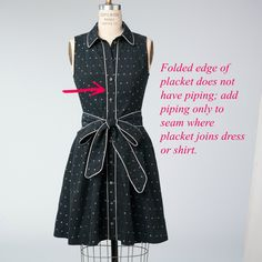 McCall Pattern Company blog: how and when to add piping to a garment