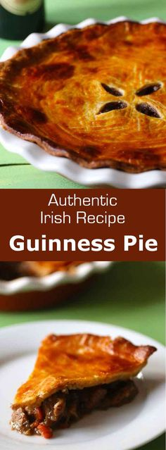Ireland: Guinness Pie - Guinness pie is a traditional Irish meat pie cooked with Guinness beer and served in pubs throughou - Guinness Bread Recipe, Steak And Guinness Pie, Guinness Pies, Guinness Recipes, Guinness Beef Stew, Guinness Cupcakes, Guinness Cake, Easy Pie Recipes, Beef Recipes