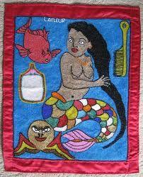Vodou (or voodoo) flag