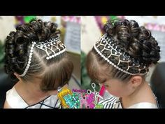 PEINADO INFANTIL/ RECOGIDO ELEGANTE CON CINTAS FÁCIL/ Peinados Rakel 65 - YouTube Hair Express, Natural Hair Styles, Short Hair Styles, Crazy Hair Days, Cut My Hair, Toddler Hair, Hair Dos, Braided Hairstyles, Hair Care