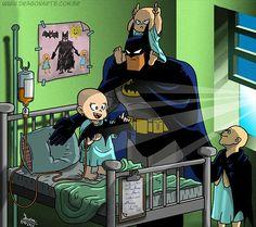 """""""Child cancer patients like Batman"""""""