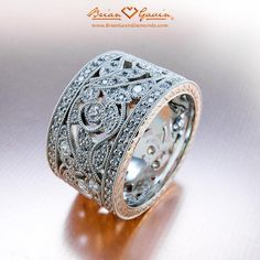 Fern. Thick Wedding BandsWide Diamond ...