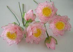 Stocking Flower - Lotus   Art Hobby Crafts