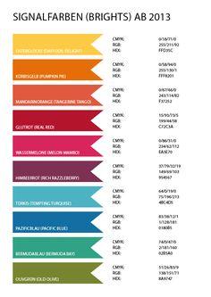 Rosa Mädchen Stampin' Up! Color Codes Farbwerttabelle RGB/CMYK/HEX zum Download 2015