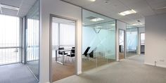 Office glass, windows, commercial glazing, glass partitions, window film, privacy, style