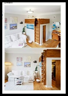 Grown up bunk bed with walk in wardrobe!