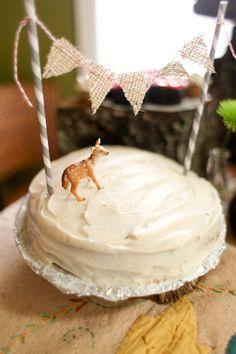 Simple but beautiful woodland cake Photo by Joy Wilson Photography