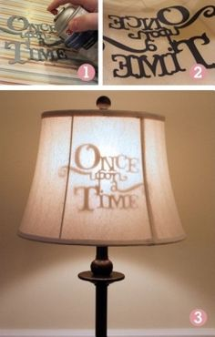 DIY Custom Silhouette Lamp Shade I love this idea! One upon a time lampshade diy. DIY Custom Silhouette Lamp Shade I love this idea! One upon a time lampshade diy home decor on a budget library Deco Disney, Deco Luminaire, Diy Casa, Ideias Diy, Disney Home, Home And Deco, My New Room, Girls Bedroom, Childs Bedroom