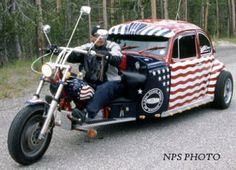 Red/White & Blue VW Trike !