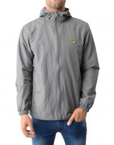Lyle & Scott Graphite Lightweight Zip Through Hooded Jacket