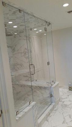 Frameless Shower Door Installation near Marietta, Georgia