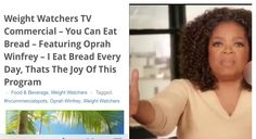 I love this Oprah admitting to eating bread everyday and still losing weight. Because that is what I am teaching as well, EAT THE FOODS YOU LOVE & STILL LOSE THE WEIGHT. The only difference is here it's free & you get to choose the foods & drinks & when you eat. You have all the CONTROL! Beautiful! This is all in my free eBook called  free eBook called Global Transformation Project According to the Worldwide Public Health Guidelines (Back To The Basics with Just The Facts, Quick & Simple…