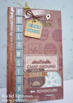 DCWV - Great Outdoors stack. Yellowstone Mini Album by rwkrafts