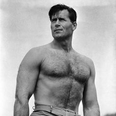 Clint Walker (Cheyenne Bodie): Famous western movie actor, standing Many say his either was or should be a source reference for Superman. Some artists have admitted on forums they use his likeness as a source reference Clint Walker Actor, Norman, Cheyenne Bodie, Tv Westerns, Western Movies, Hairy Chest, Hairy Men, Look At You, American Actors