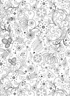 whimsical flower coloring pages - photo#38