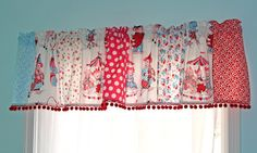 super cute valance for the kitchen or craft room