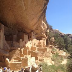 Mesa Verde National Park, CO, Durango, Colorado - These are one of the Mesa Verde Cliff Dwellings called the Cliff Palace