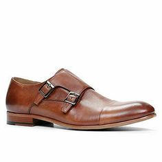 Aldo Cognac Leather Cap Toe Double Monk Strap, $120
