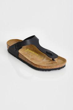 54fd821bc73d58 Birkenstock Gizeh Black Thong Sandals