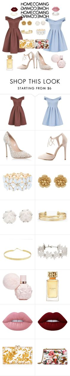"""twins"" by hiim-kr-g ❤ liked on Polyvore featuring Chi Chi, Casadei, Charlotte Russe, Miriam Haskell, Chanel, Stella & Dot, Lana, Miss Selfridge, Tory Burch and Lime Crime"