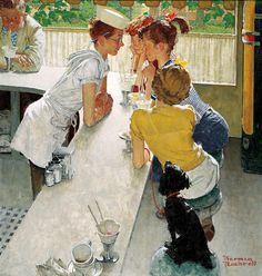Norman Rockwell – Soda Jerk (1953) The Saturday Evening Post (Aug. 22, 1953) - Curtis Publishing Company