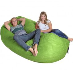 Filled with generous amounts of high-quality shredded foam and covered with a durable, soft microsuede, this 8-foot bean bag will be your new favorite lounging place. This giant cushion seats 3-4 people comfortably.