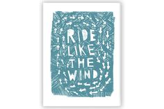 Ride Like the Wind Cycling Print by Anthony Oram