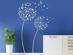 Mit dem Wandtattoo Schmetterlingsblüten kannst Du Deine Wand kreativ gestalten.