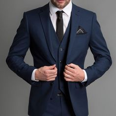 Blue Wedding Tuxedos Formal Wedding Men Suits 2019 New Three Piece Notched .Navy Blue Wedding Tuxedos Formal Wedding Men Suits 2019 New Three Piece Notched . Suit Man, Grey Suit Men, Suit For Men, Best Suits For Men, Formal Wedding, Wedding Men, Wedding Tuxedos, Wedding Groom, Best Wedding Suits For Groom