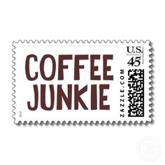 Coffee Junkie Postage Stamps by Alternateworlds