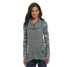 Women's AB Studio Marled Cowlneck Tunic Sweater